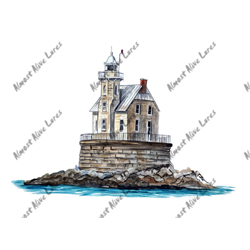 Race Rock Lighthouse - Printed Vinyl Decal
