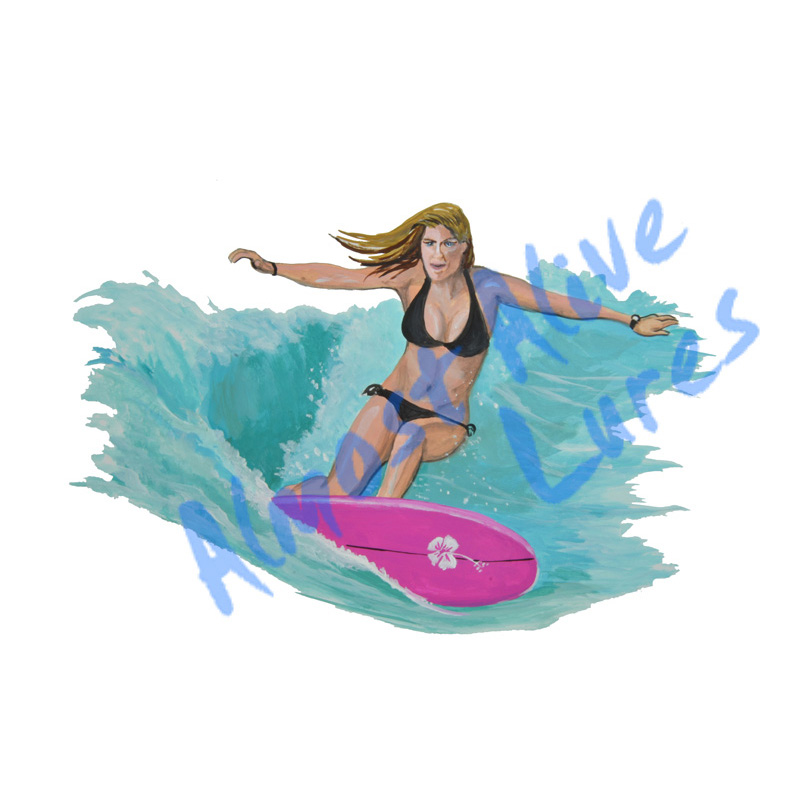 Surfer Girl - Printed Vinyl Decal