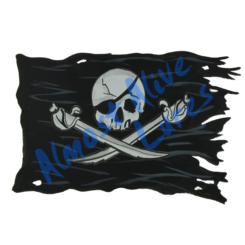 Pirate Battle Flag - Printed Vinyl Decal