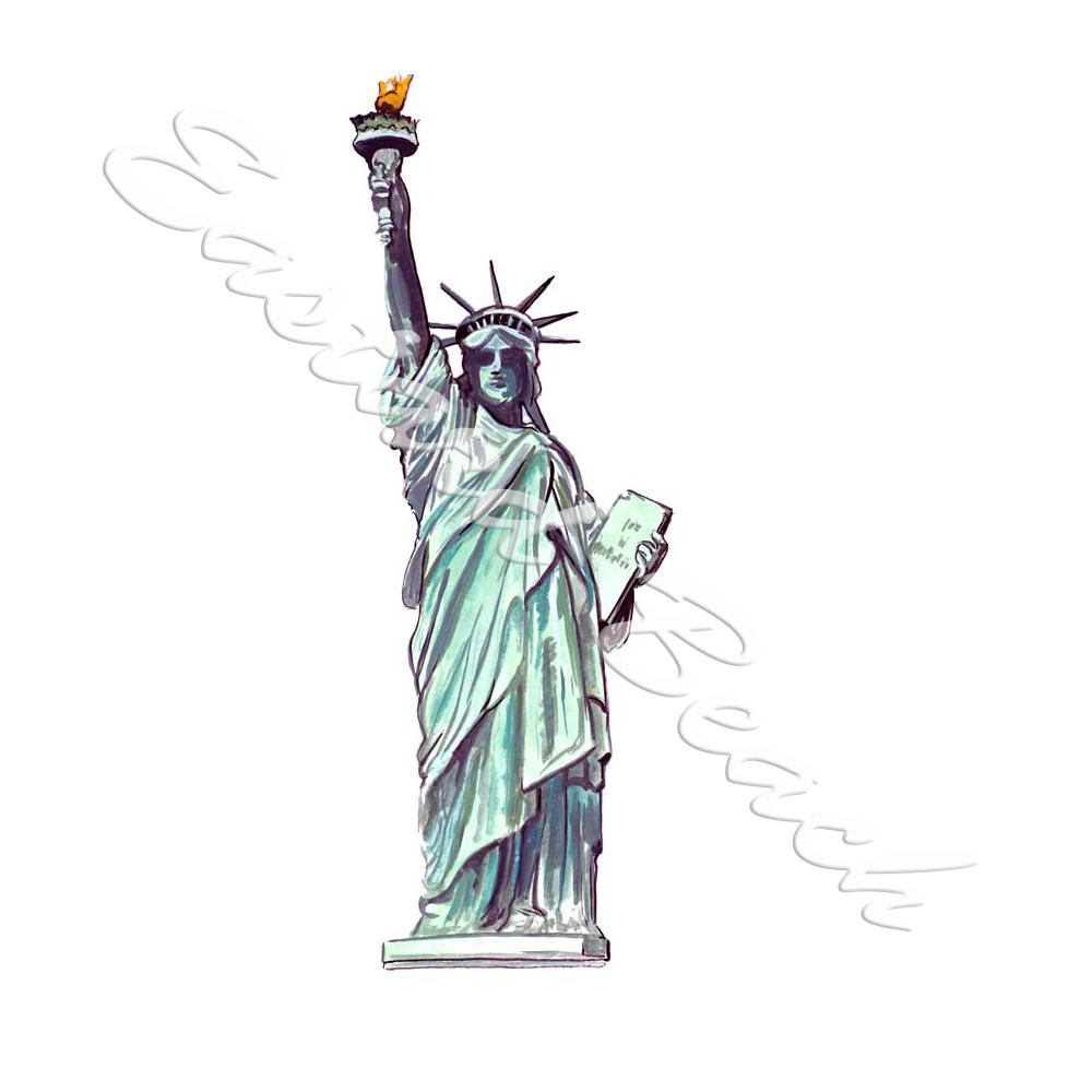 Statue Of Liberty - Printed Vinyl Decal