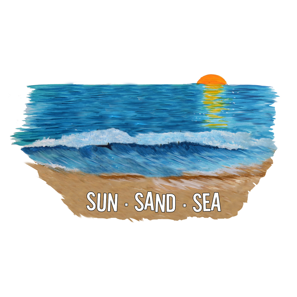 """Sun Sand Sea"" - Beach Sunset"