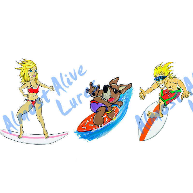Surf Buddies - Minis Set of 3 Printed Vinyl Decals