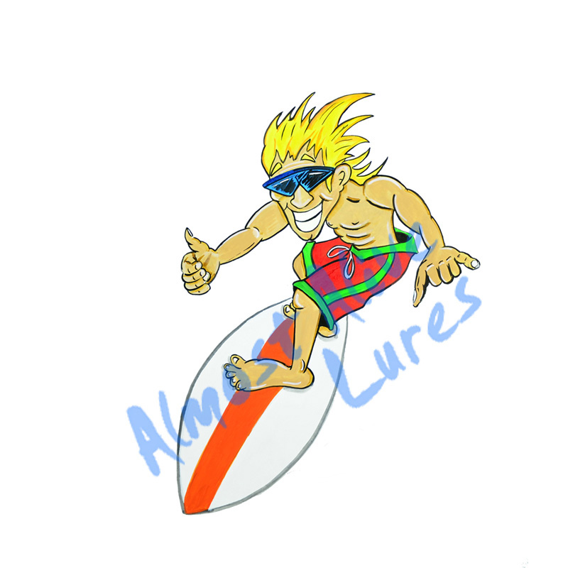 Surf Guy - Printed Vinyl Decal