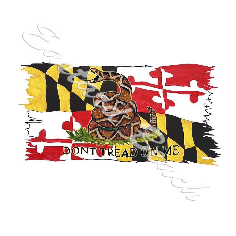 Maryland Flag - Don't Tread On Me