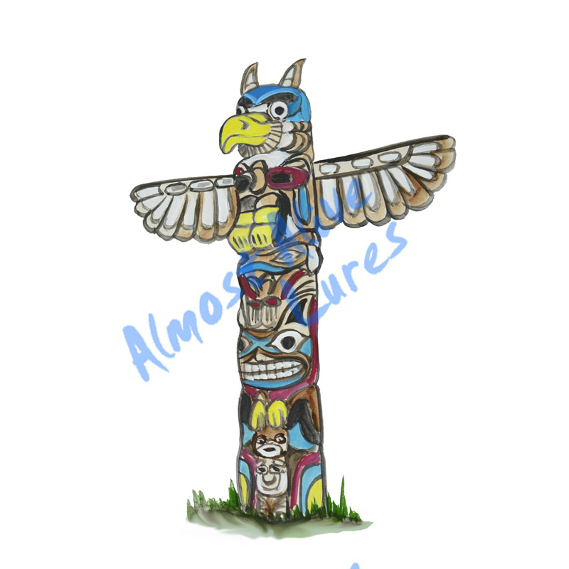 Totem Pole - Printed Vinyl Decal