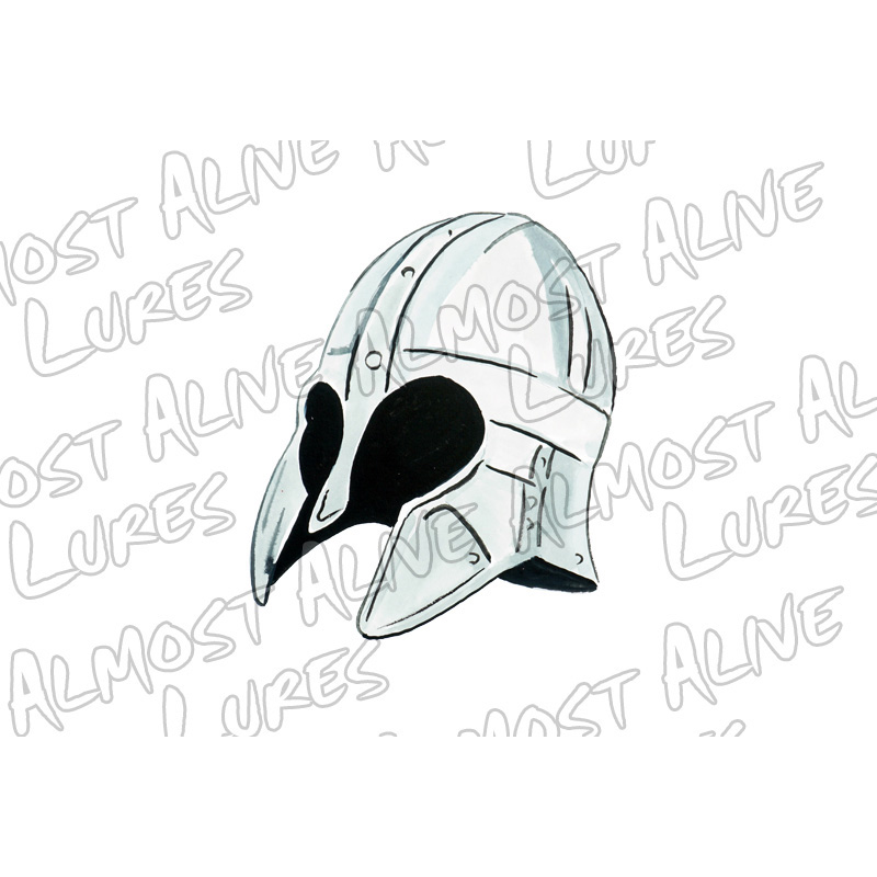 Viking Helmet 2 - Printed Vinyl Decal