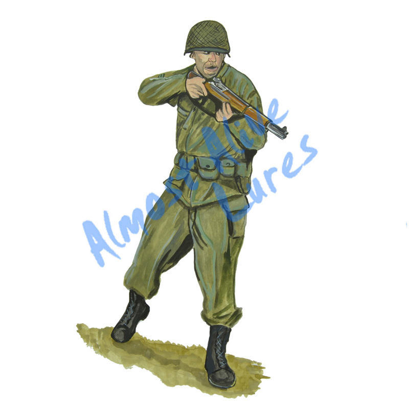 World War 2 Soldier - Printed Vinyl Decal
