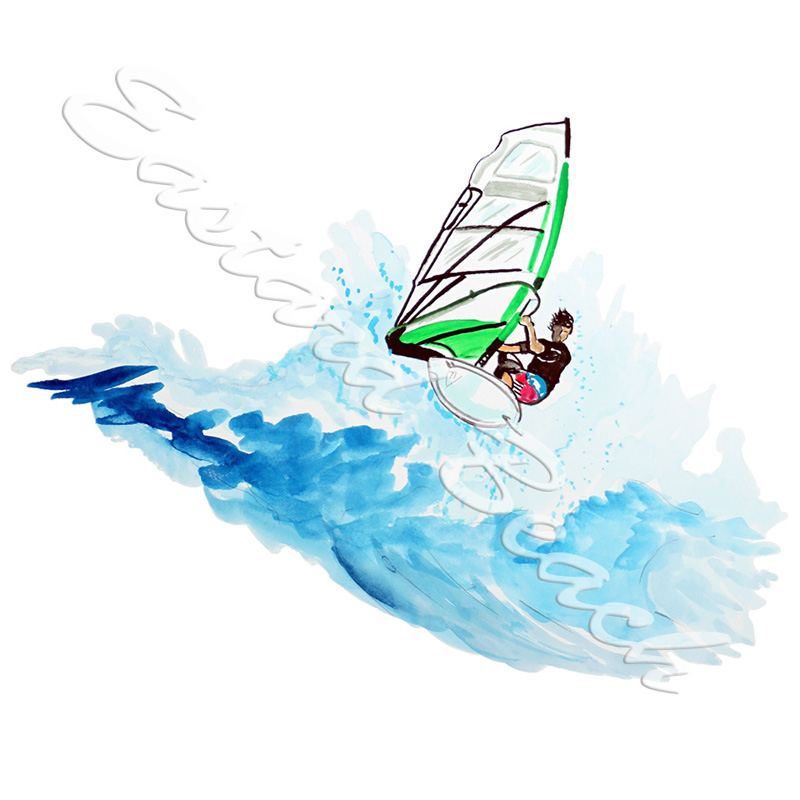 Windsurfer - Printed Vinyl Decal