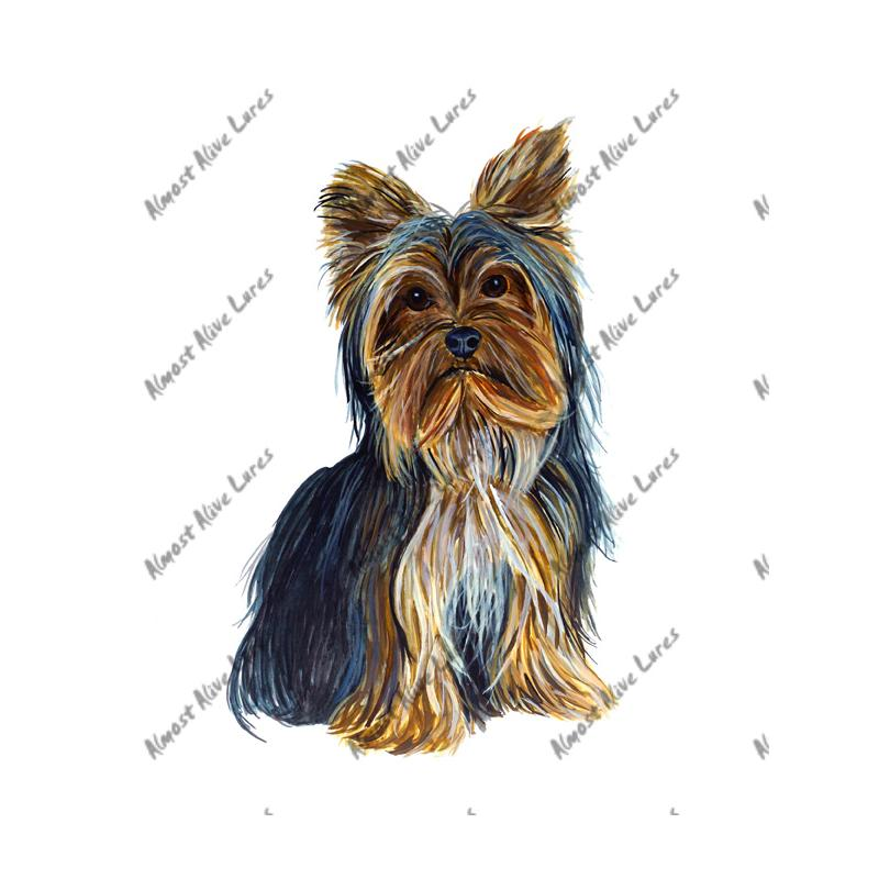 Yorkshire Yorkie Terrier - Printed Vinyl Decal