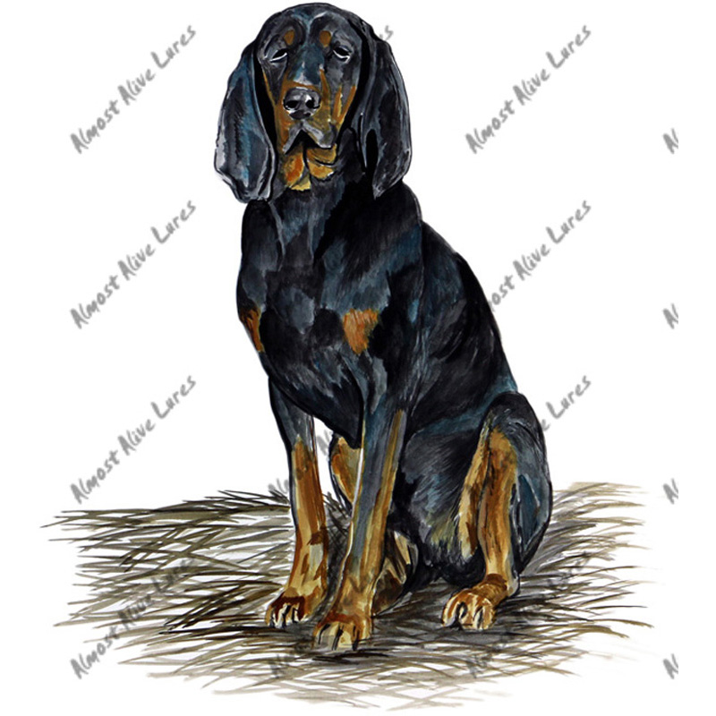 Coonhound Dog - Printed Vinyl Decal