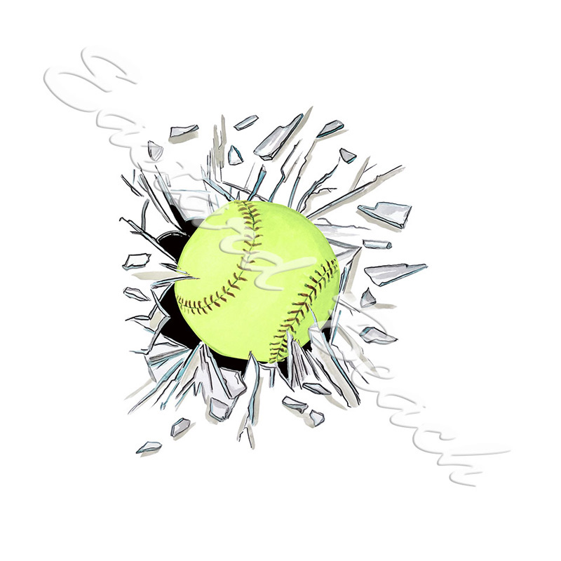 Broken Glass Softball