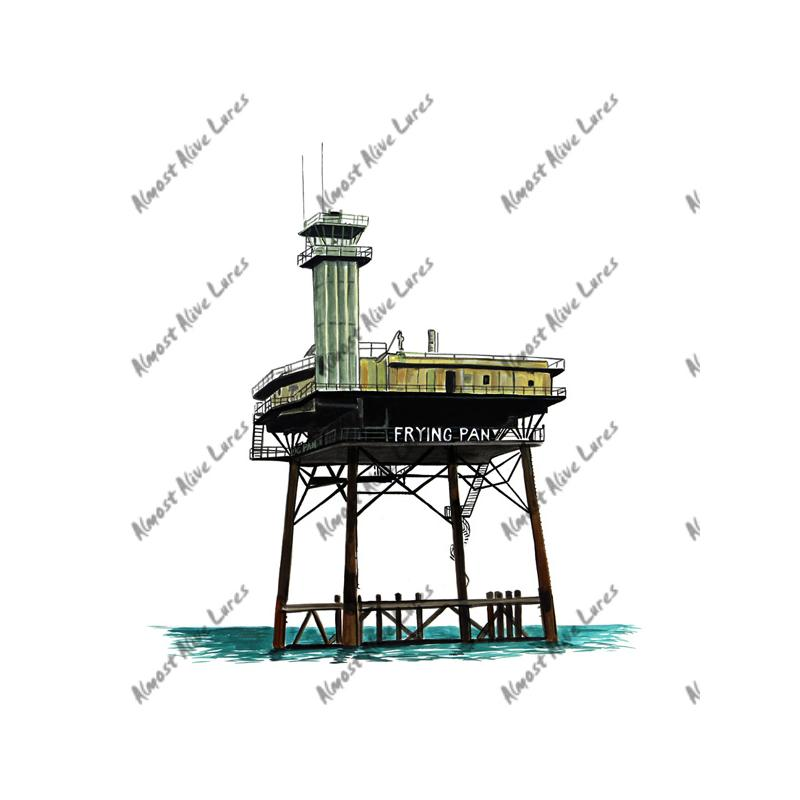 Frying Pan Shoals Light Tower - Printed Vinyl Decal