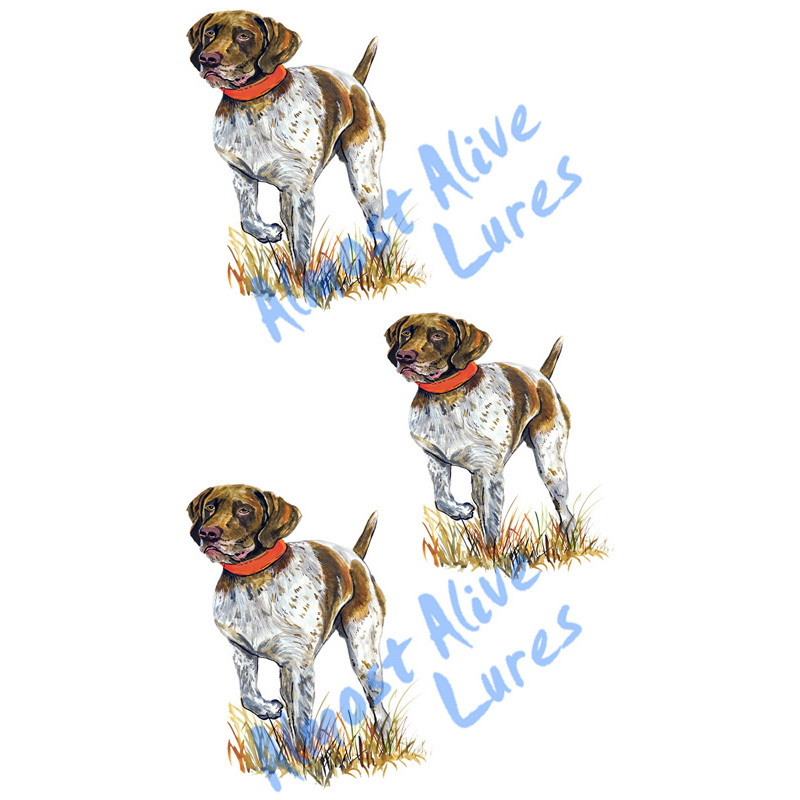 German Short Haired Pointer - Minis Set of 3 Printed Vinyl Decal