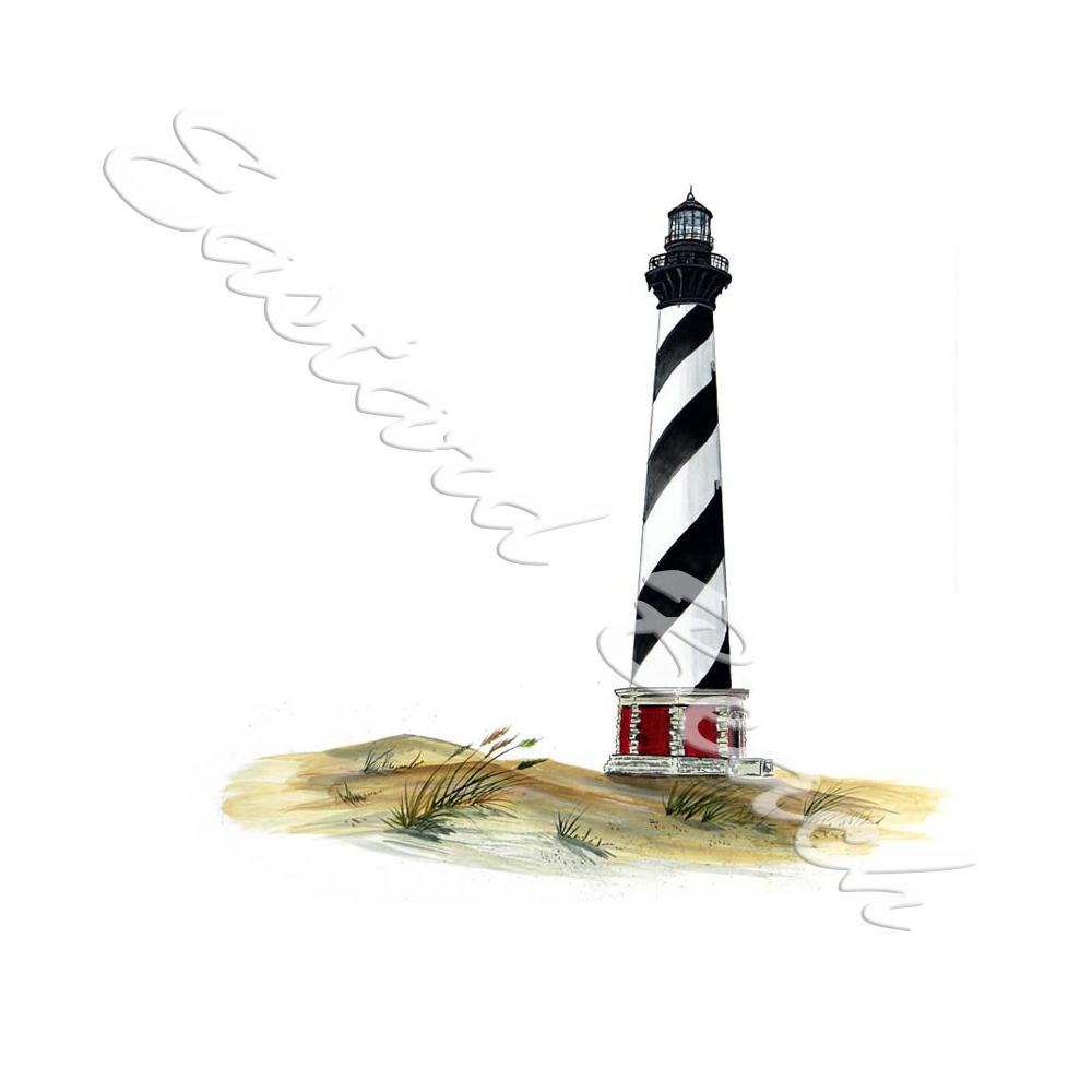 Cape Hatteras Lighthouse - Printed Vinyl Decal