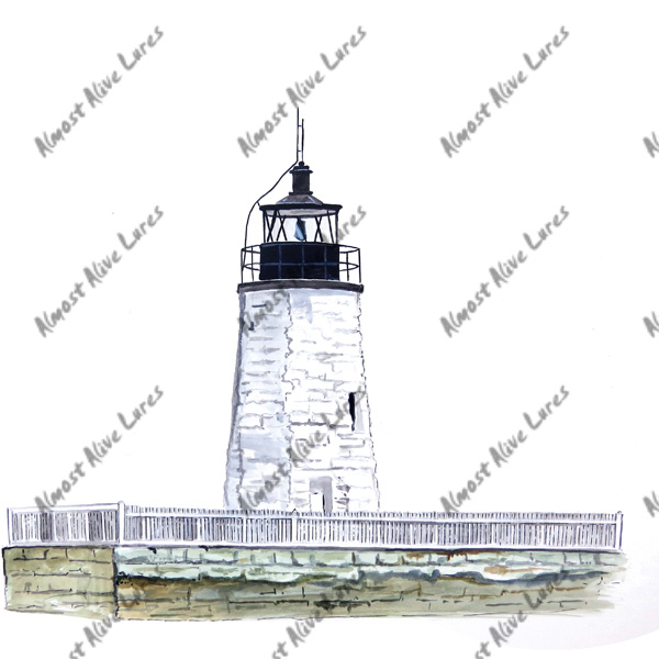 Newport Harbor Lighthouse - Printed Vinyl Decal