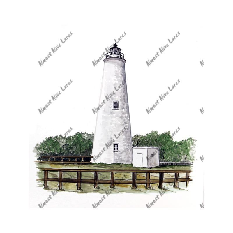 Ocracoke Lighthouse - Printed Vinyl Decal