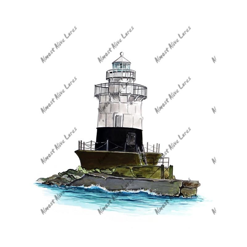 Old Orchard Shoal Lighthouse - Printed Vinyl Decal