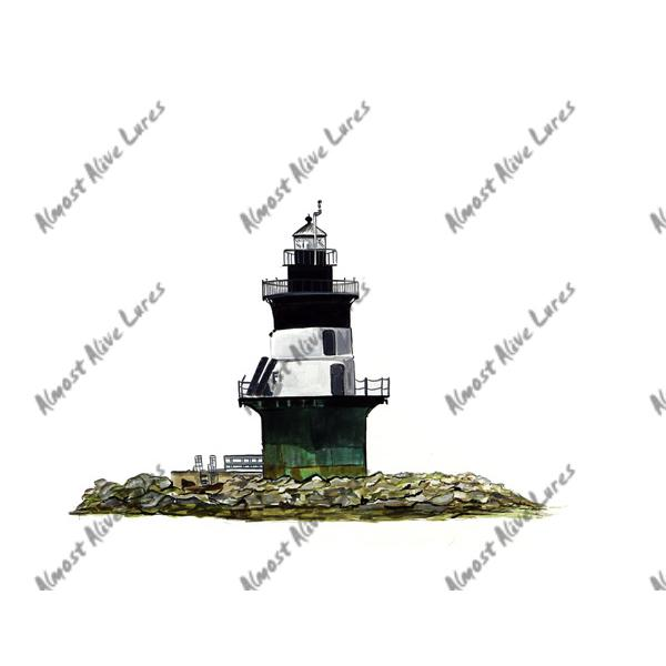 Orient Point Lighthouse - Printed Vinyl Decal