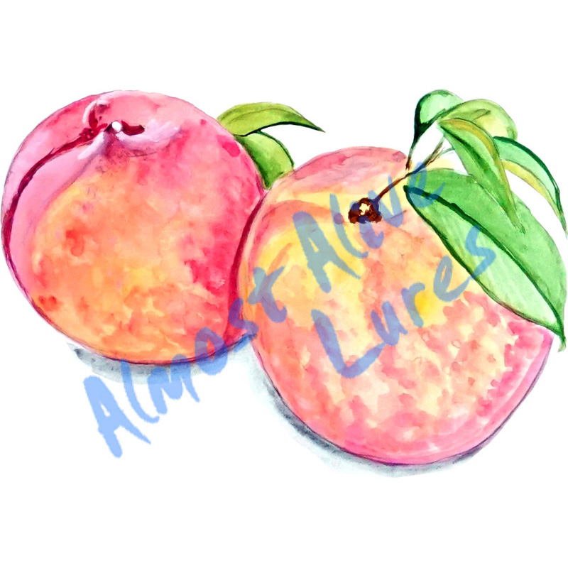 Peaches - Printed Vinyl Decal