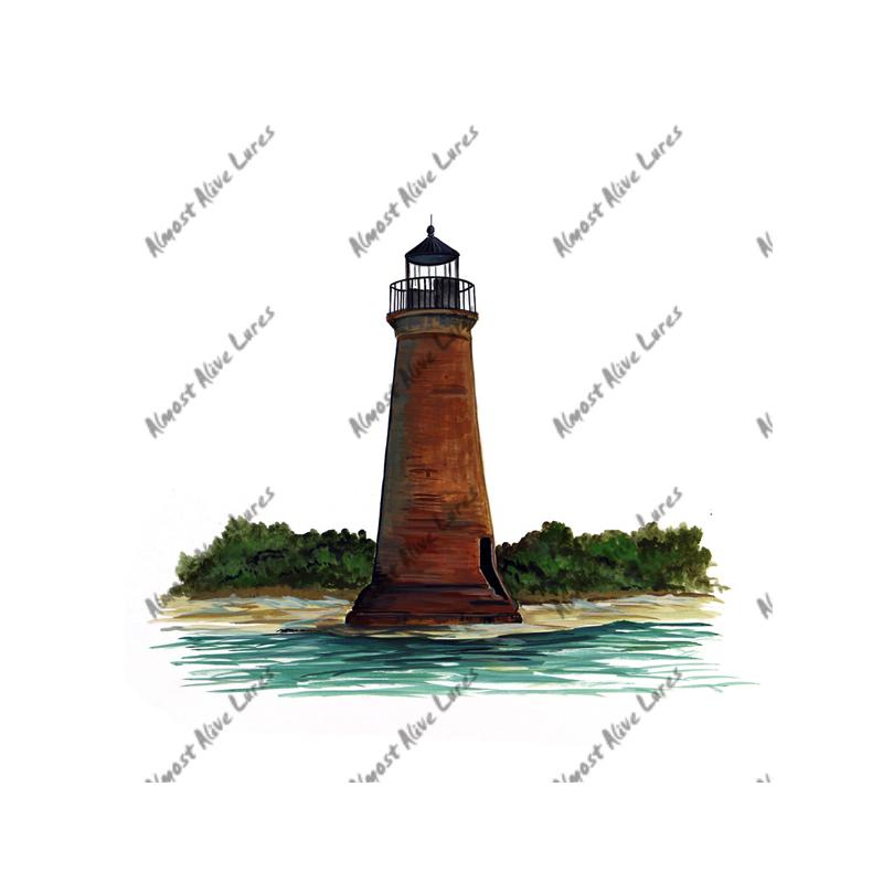 Round Island Lighthouse - Printed Vinyl Decal