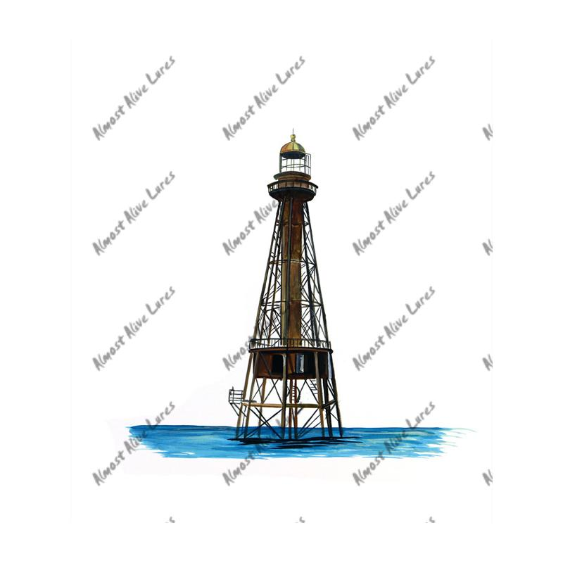 Ship Shoal Lighthouse - Printed Vinyl Decal