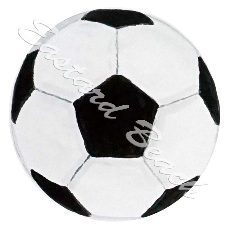 Soccerball - Printed Vinyl Decal