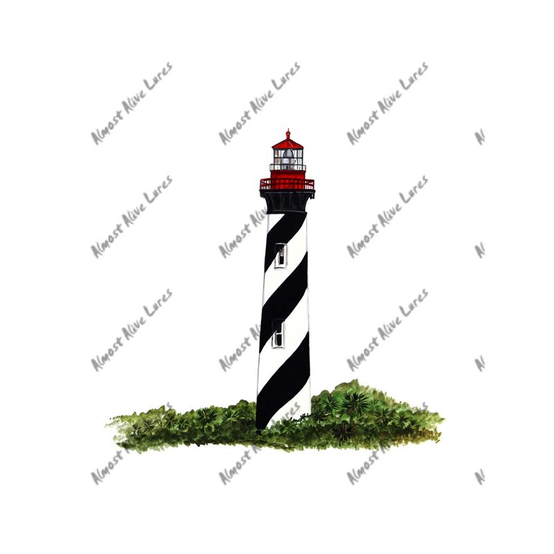 St. Augustine Lighthouse - Printed Vinyl Decal