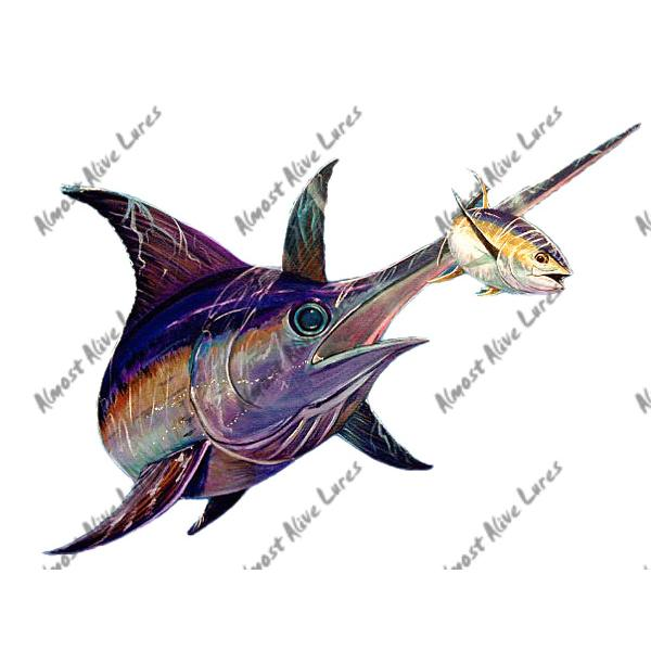 Swordfish & Tuna - Printed Vinyl Decal