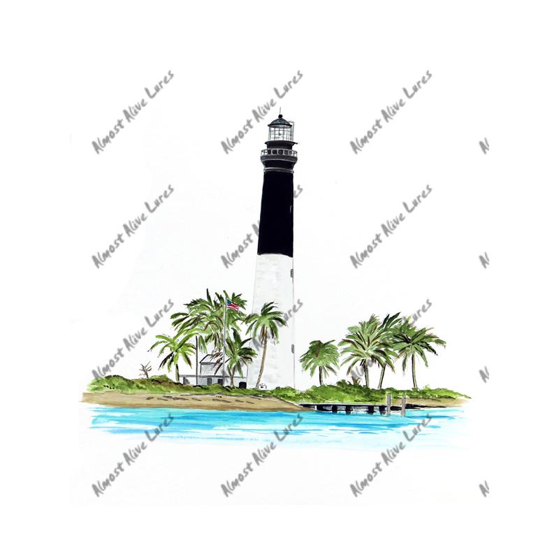 Dry Tortugas Lighthouse - Printed Vinyl Decal